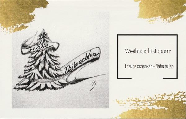 Baum - Weihnachtstraum - m. Golddruck-a