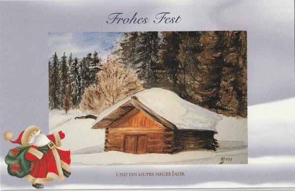 verschneite Hütte-a
